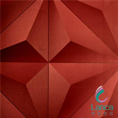 China Supply Plant Fiber Modern Design Interior PVC Board 3D Wallpaper LCPE070P-17026