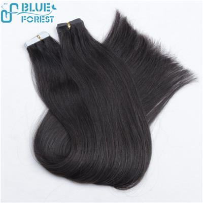 100% Human Hair Tape In Hair Weft Extensions, Tape Size 4*1cm Or Customized