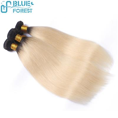 100% Human Hair Weft Straight/ Wavy/ Curly Extensions Customized Colors
