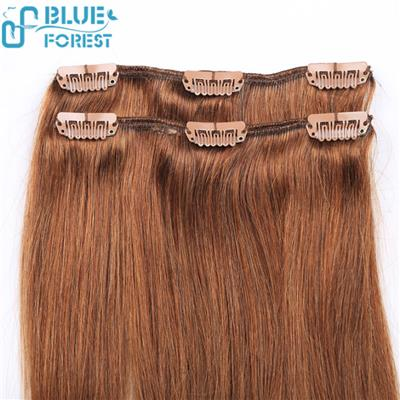 Clips In Hair Extensions, 100% Top Remy Human Hair, Straight Wavy Curly