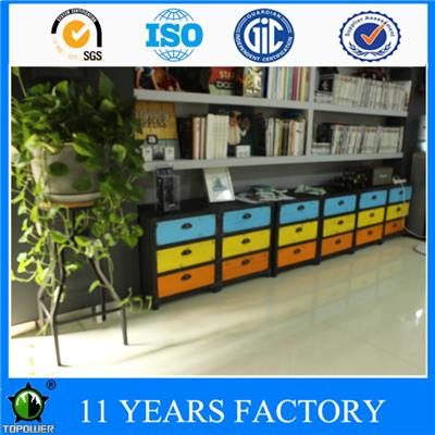 Metal Industrial Colorful 3-drawer Office Use File Cabinet For Sale