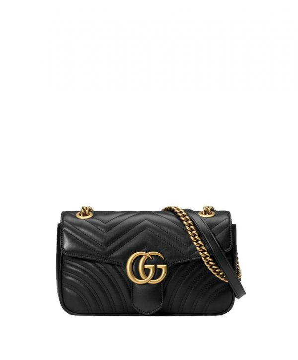 Gucci GG Marmont Matelasse Mini Black Bag at itpurse.cn