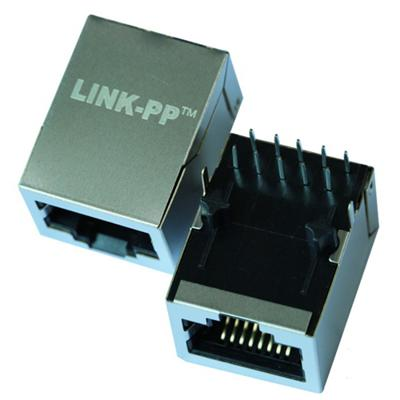 HR901130A Single Port RJ45 Connector with 1000 Base-T Integrated Magnetics,Without LED,Tab Down,RoHS