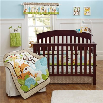 Cotton Print Tale Animal Designs Gender Neutral Crib Bedding Cot Set With Low MOQ 100sets