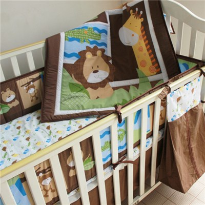 Cheap Animal Jungle Collection Baby Boy Crib Bedding Set From China