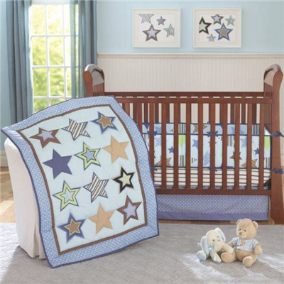 Custom Printed 3d Baby Crib Bedding Set Wholesale Bulk