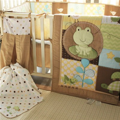 Wholesale Luxury European 3D Embroidery Baby Boy Crib Cot Bedding Set