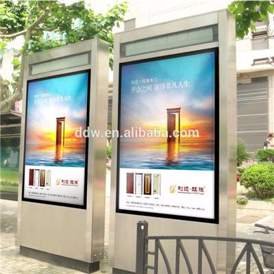 1500nits High brightness floor stand 55 Inch Outdoor Digital Signage IP65 grade waterproof self-cooling function