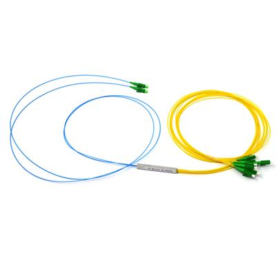 2x8 Fiber Optic Splitter With Steel Tube,0.9mm With G657A Fiber