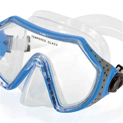 Tempered Glass Silicone Skirt&strap Diving Mask