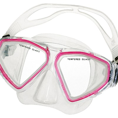 Tempered Glass PVC Skirt&strap Diving Mask