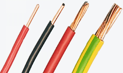 cable with bare copper conductor
