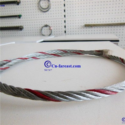 Color Strand Galvanized Steel Wire Rope 6*19