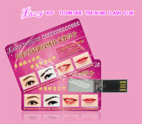 Dazzling colors technique training flash disk/eyebrow&lip&eyeliner-tattooing study/permanent makeup training