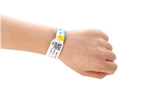 Customized hospital patient id wristbands