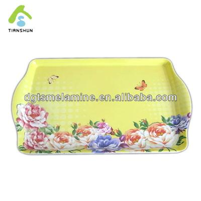 100% Melamine Tea Tray Plastic Restaurant Serving Tray