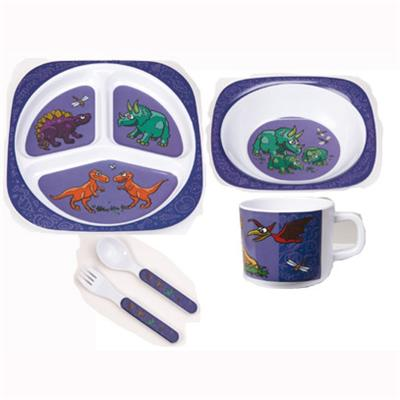 Square Melamine Dinner Set For Children