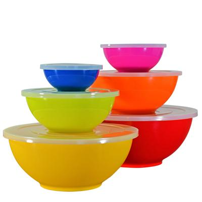 Melamine Bowl Set With Lids