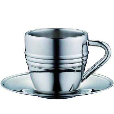 Food Grade Stainless Steel Tea Cup With Saucer