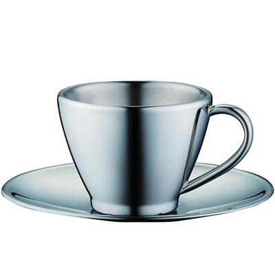 Stainless Steel Coffee Cup, Tea Cup With Saucer, Espresso Tea Coffee Cup Stainless Steel
