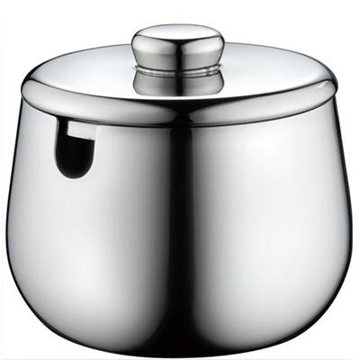 0.15/0.3 L High Quality Mirror Finish Stainless Steel Sugar Bowl With Lid