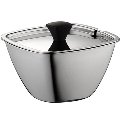 0.25 L Stainless Steel Sugar Pot With Spoon, Sugar Bowl With Lid, Sugar Pot With Lid