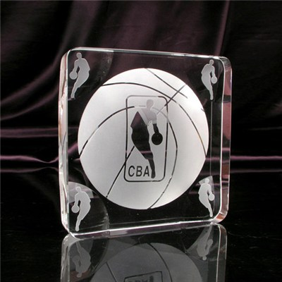 Glass Basketball Trophy