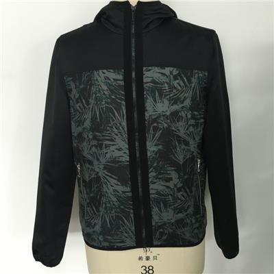 The Latest Fashion Men Faux Leather Printed Soft Shell Casual Winter Jackets
