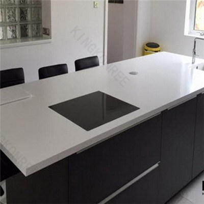 White Polished Hard Quartz Stone Scratch Resistance Countertop
