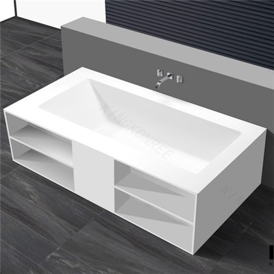 Artificial Stone Bathtub With Four Legs , Bathtubs For Sale