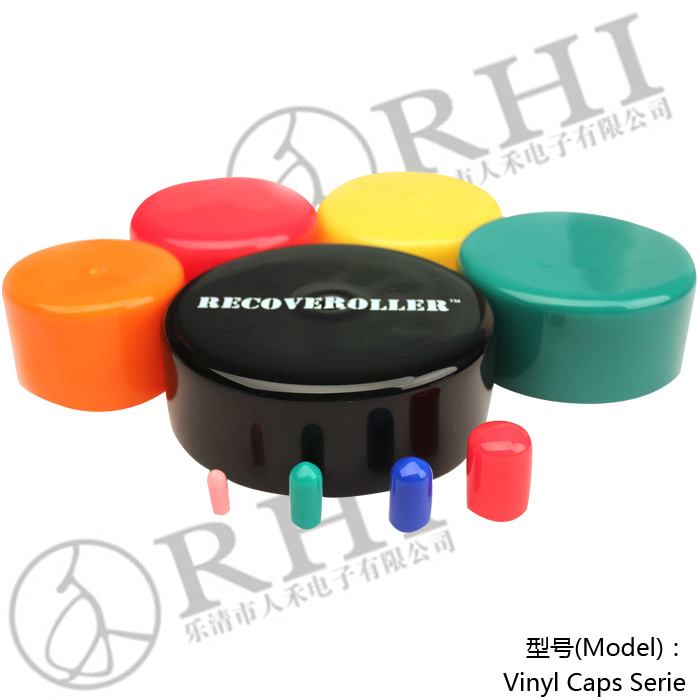 PVC pipe threaded round rubber end caps