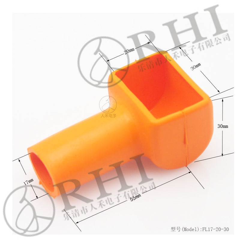 Hot Sales battery terminal cover, cable end cap, rubber terminal cover