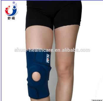 High elastic Waterproof neoprene adjustable blue knee support brace