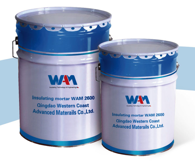 High alumina refractory insulating mortar WAM 2300 WAM 2600 WAM 2800 WAM 3000