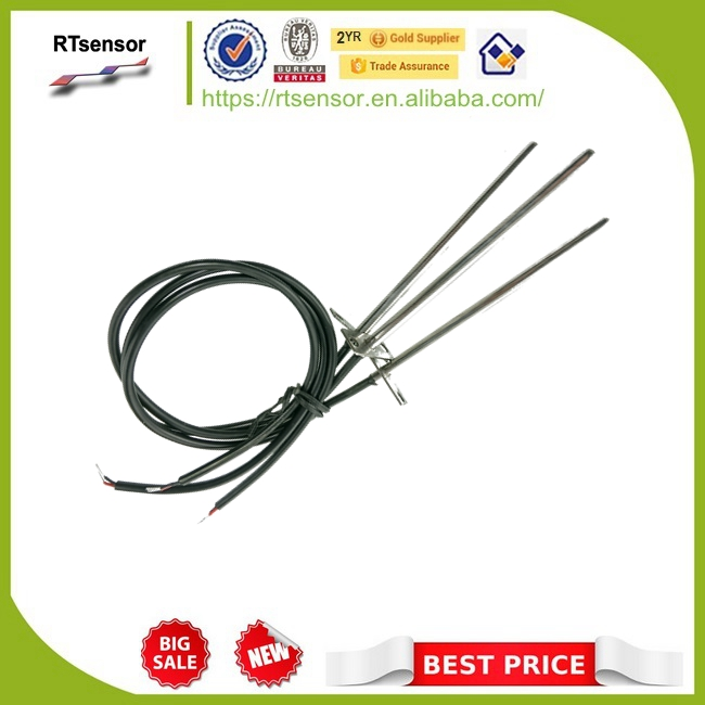 NSAB0103FB-601X6c Duct Sensor 600mm 24AWGX2C NTC Temperature Sensor 10K 3380 5x105mm For Central Air Conditioning Parts