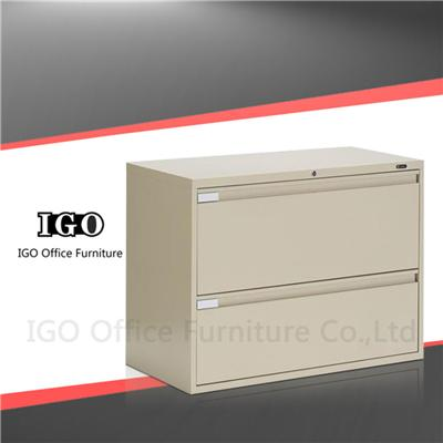 Strong Structure Lateral 2 Drawers Metal Filing Cabinet On Sale