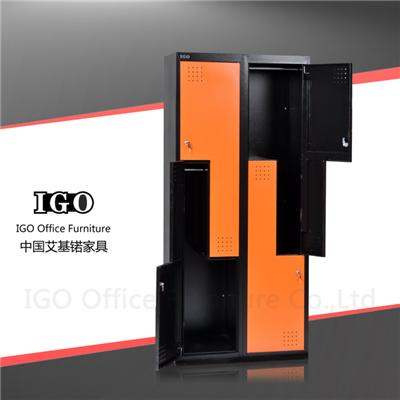 Z Shape Door Staff Wardrobe 4 Door Metal Locker