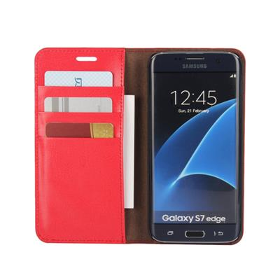 Flip Genuine Leather Wallet Case For Samsung Galaxy S7