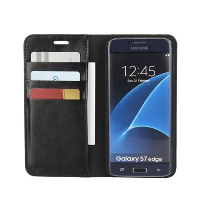 Flip Genuine Leather Wallet Case For Samsung Galaxy S7 Edge