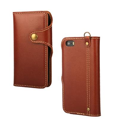 Flip Genuine Leather Wallet Case For Apple IPhone 5 5S SE