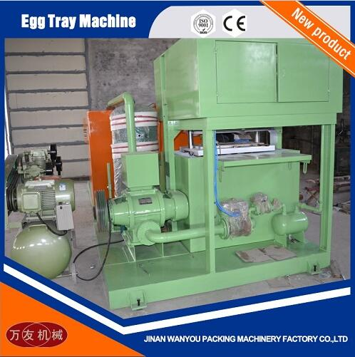2 Molds Paper Pulp Egg Tray Making Machine with Output of 700pcs/hour For Sale