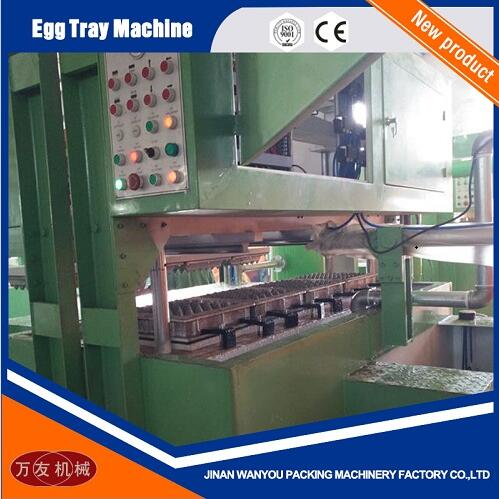 4 Molds Paper Pulp Egg Tray Making Machine with Output of 1300pcs/hour For Sale