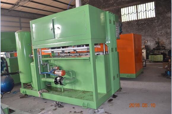 8 Molds Paper Pulp Egg Tray Making Machine with Output of 2500pcs/hour For Sale