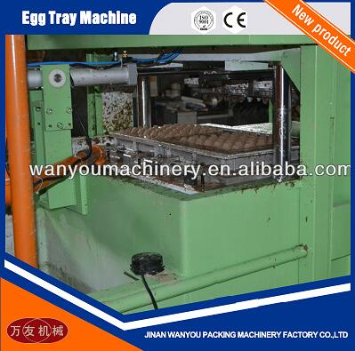 700pcs/hour Paper Pulp Molding Egg Tray/Quail Tray Making Machine with Aluminum Molds For Sale