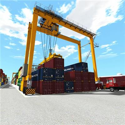Supply Port RTG Crane, Rmg Containe Cranerubber Tyred Container Gantry Crane, STS Crane And Grain Handling Crane And System