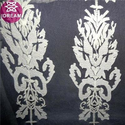 Embroidery Design Polyester Mesh Lace Trim With Flower Decoration