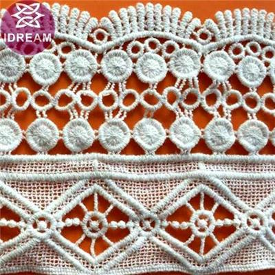Water Soluble Guipure Checmical Lace Trim For Garment