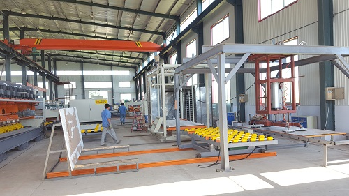 2015 Latest quartz stone machinery artificial quartz stone producing machine