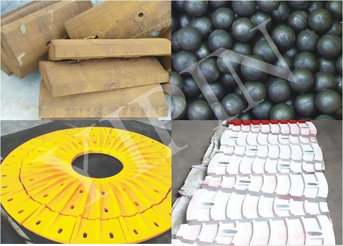 High manganese steel casted wear-resistant accessories of the ball mill