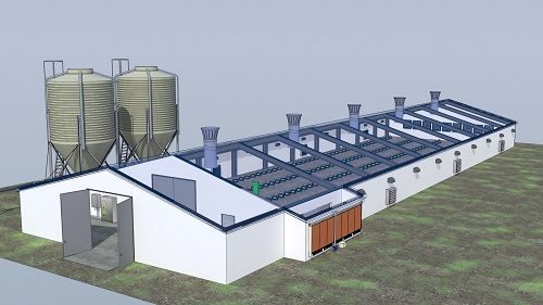 Evaporative Cooling System for poultry house